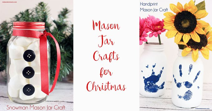 Cute Mason Jar crafts for Christmas. DIY crafts Christmas