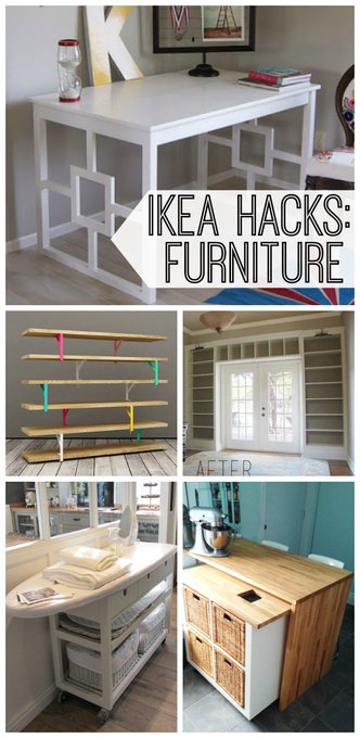 IKEA just got hacked! Take a look at these DIY projects.