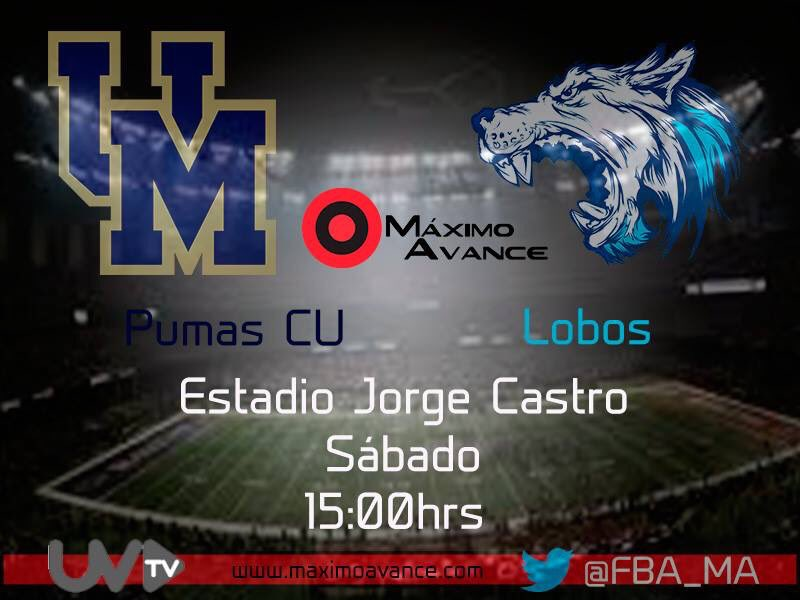 Primer partido de hoy...@pumascufba visita a Lobos!  RT si estás con PumasCU  Like si apuestas por Lobos https://t.co/lstTORYvkq