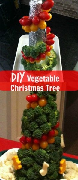 DIY Vegetable Christmas Tree: christmas crafts diy