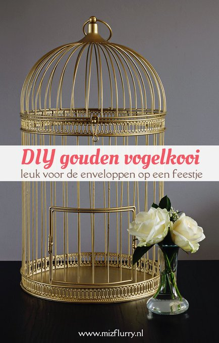 uitdeoudedoos DIY gouden vogelkooi diy gouden vogelkooi decoratie feest