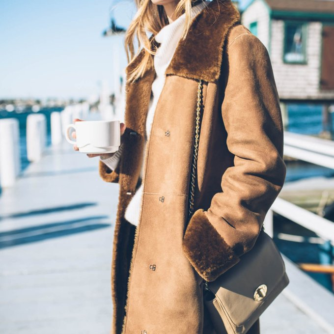 Sunday Chic in Shearling via PROSECCO & PLAID jessannkirby ootd