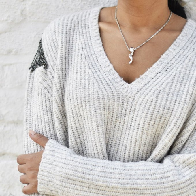 Cozy, warm and glam. lotd ootd jewelryjewels necklace