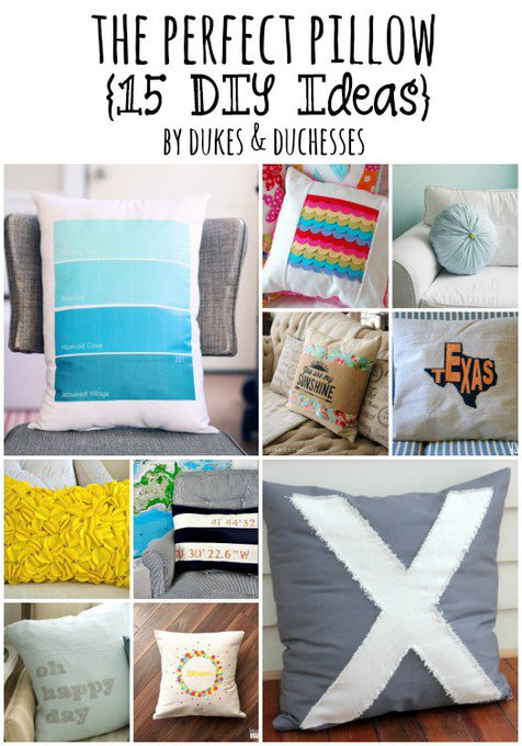 Brighten up the home with these DIY pillow ideas!