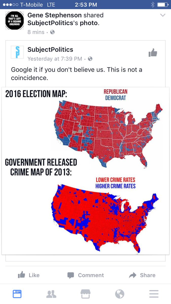 Government released crime map of the us