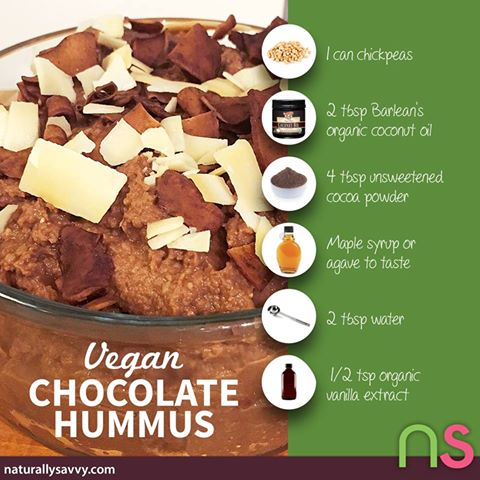 Chocolate + Hummus? What!?! YUM! :)