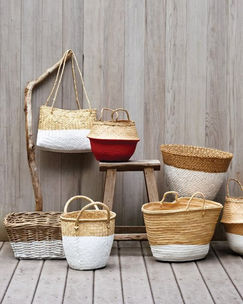 Transform baskets by adding some paint to them! diy