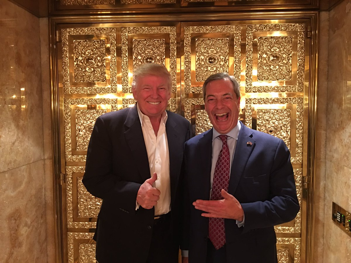 Brexit's Farage Meets Trump, Wants Churchill Bust in Oval Office - NBC News