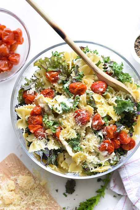 This pasta salad is delicious with bow-tie noodles from foodiecrush