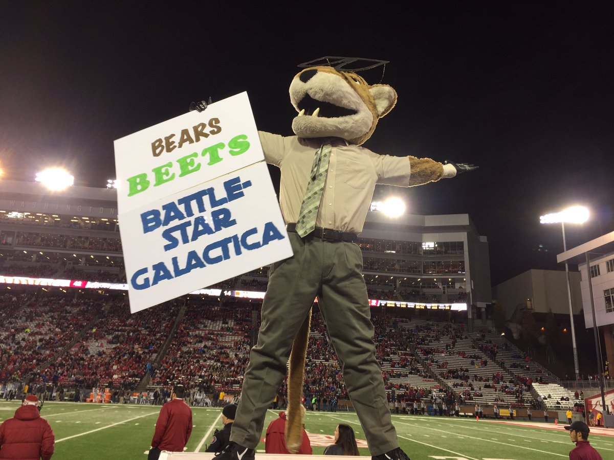 Cougs beat Bears. Bears. Beets. Battlestar Galactica. #GoCougs https://t.co/NLD077hgOq