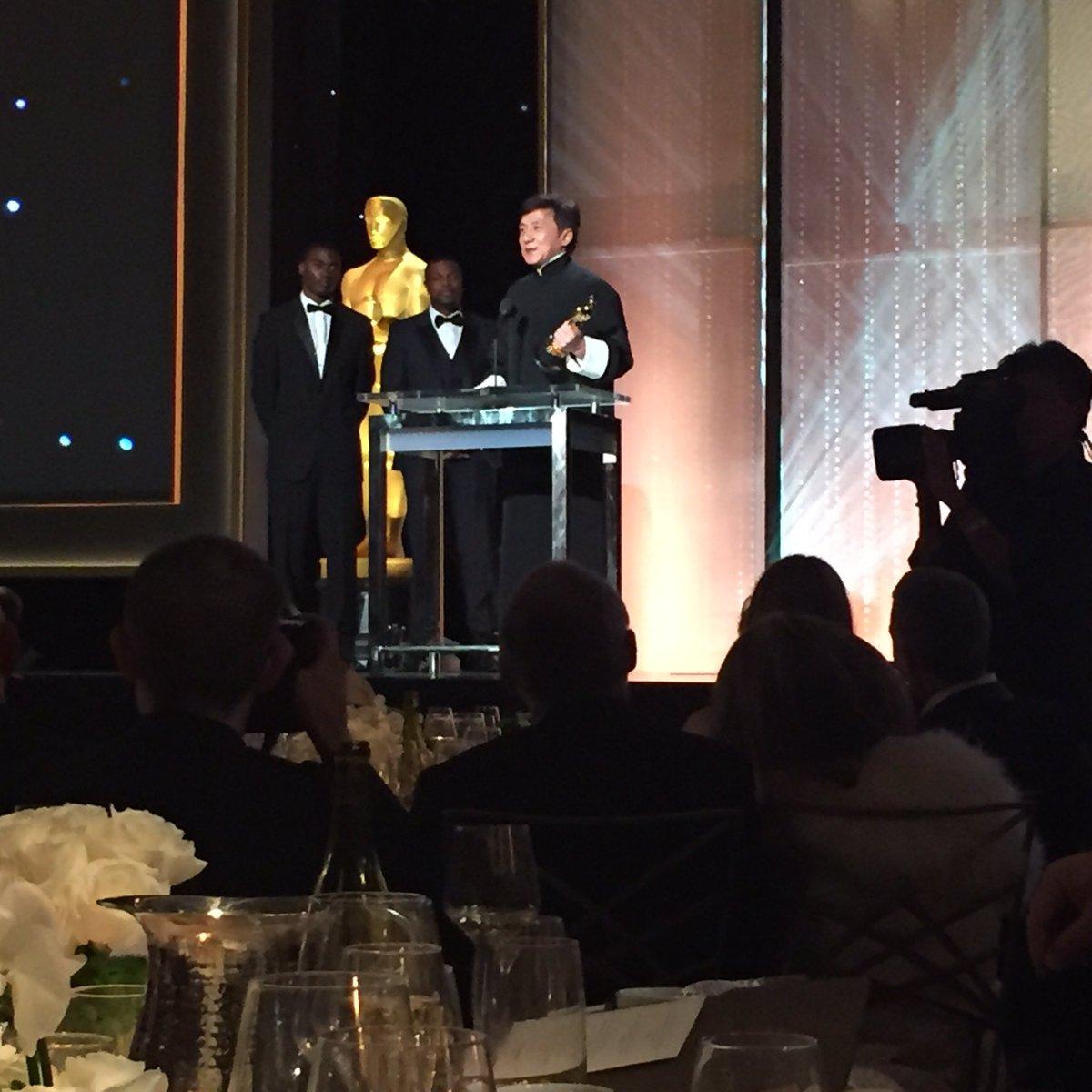 So many movies, so many broken bones. Tonight Jackie Chan has an Oscar. #GovAwards https://t.co/NjsVuTXf8S