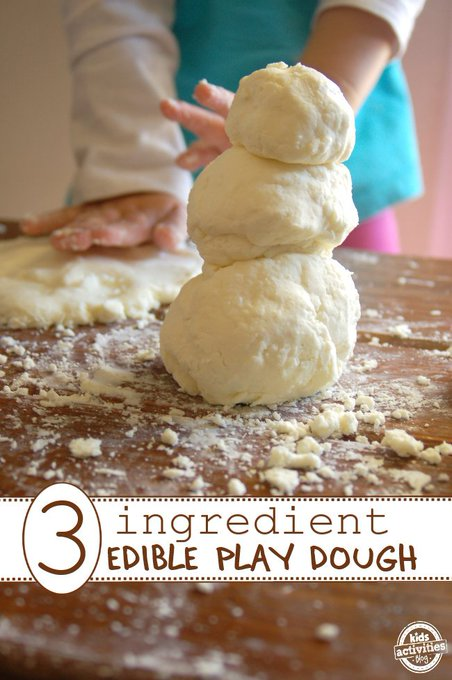 Edible Play Dough Recipe Only 3 Ingredients! arts crafts toddler nyc