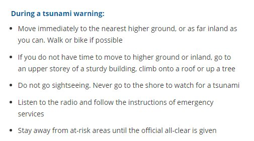 A tsunami is possible. Anyone near the east coast of the south island should move to high ground #eqnz https://t.co/XO1etK1WYq