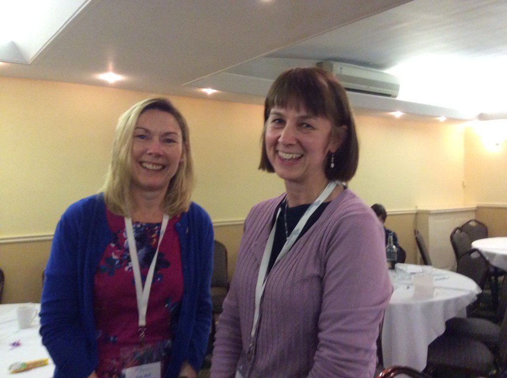 @sueball011 @sarahmears10 Two great librarians #ASCELconf16 ...past and next Chair @ASCELUK . What a vital job. https://t.co/6EYBiVu8j4