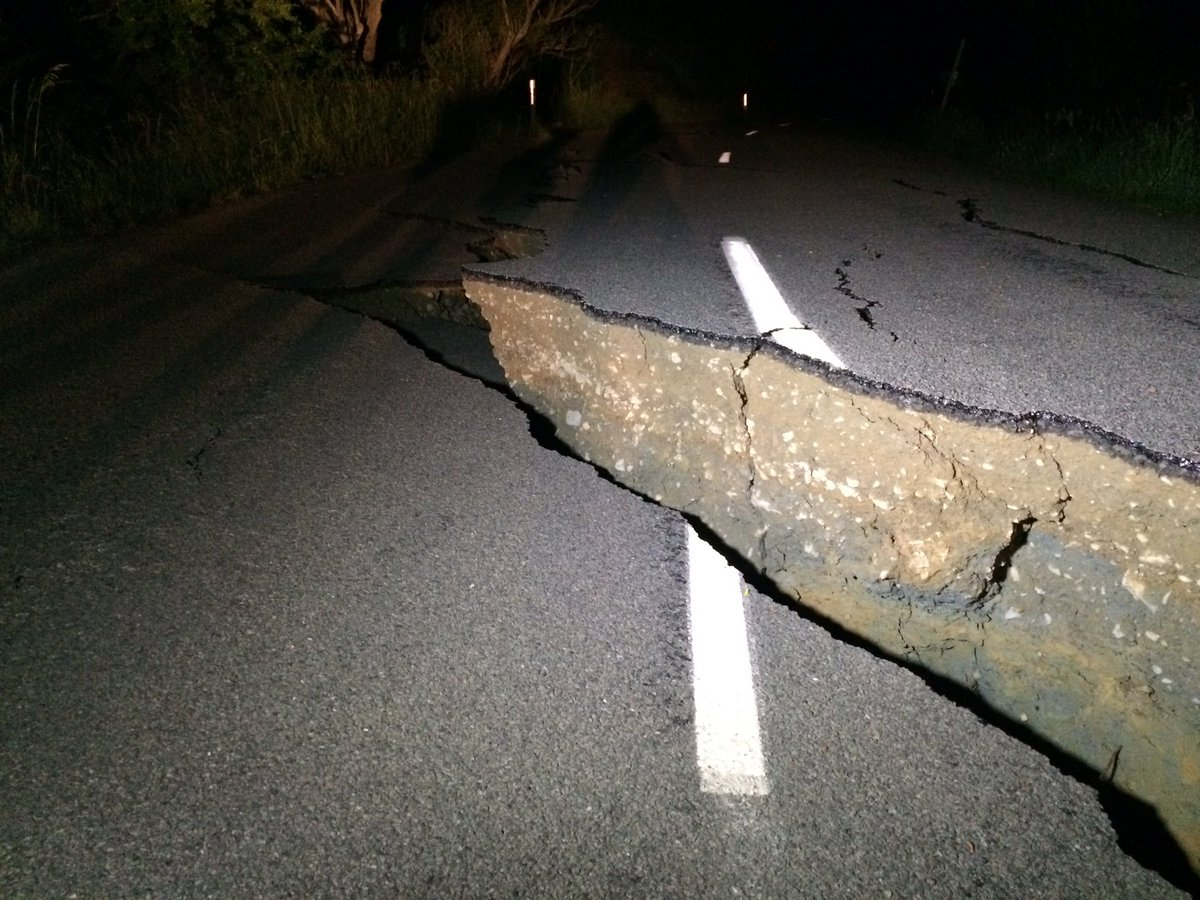 More damage along Leader Road, just inland of SH1 #eqnz https://t.co/reTkq2k4Wr