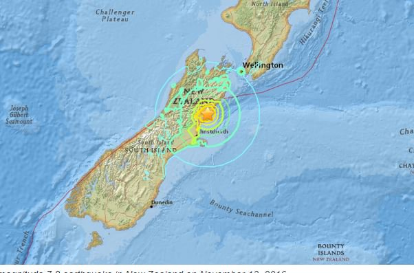A magnitude 7.8 earthquake struck New Zealand on November 13, 2016 at 11:02:56 UTC. https://t.co/awfMAGkmK3 https://t.co/EOvUrIUagr