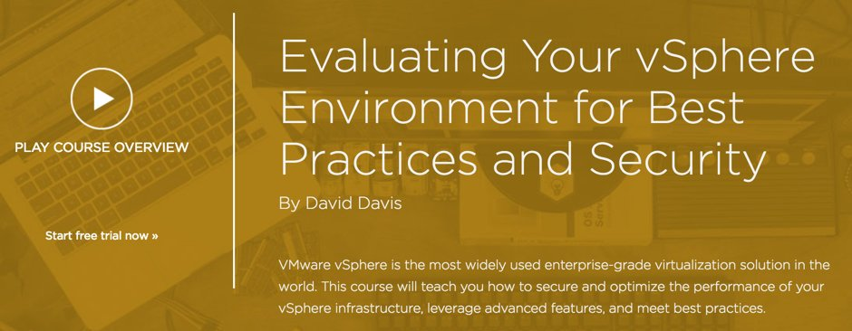 My new VMware vSphere Best Practices course is released on @Pluralsight ! Watch at https://t.co/js9OG9AmtV https://t.co/n0A6ADwYAZ