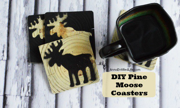 DIY Pine Moose Coasters decor crafts diy