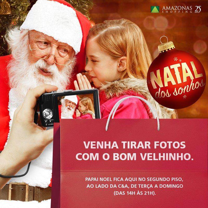 O Bom Velhinho já chegou ao Amazonas Shopping. Fique por dentro da agenda e venha logo garantir a sua foto. Ho ho ho! https://t.co/GFPJDHHd7P