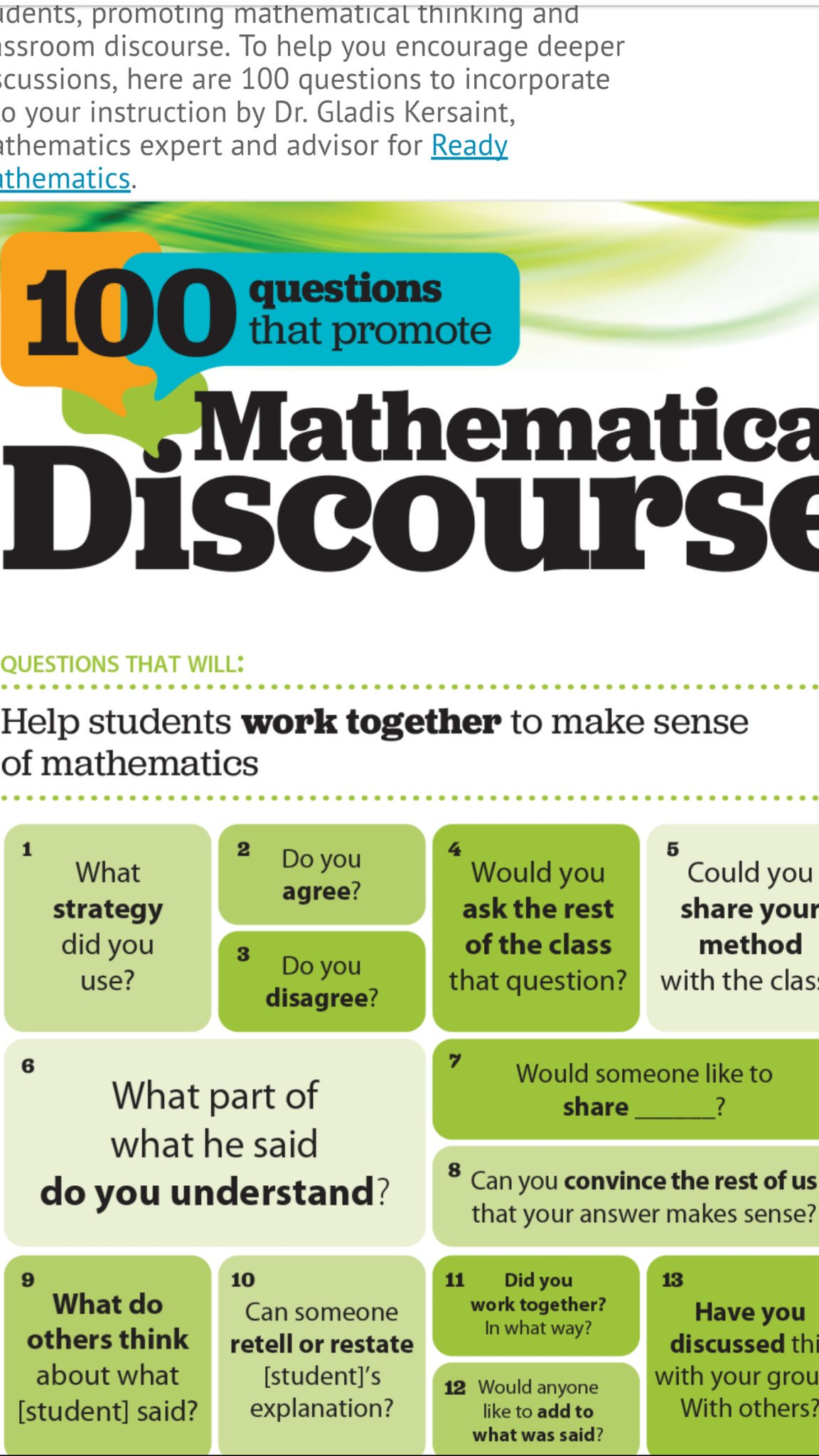 improving the teaching and learning of mathematics Mathematics teaching today: improving practice, improving student learning, second edition, updates the nctm groundbreaking publication professional standards.