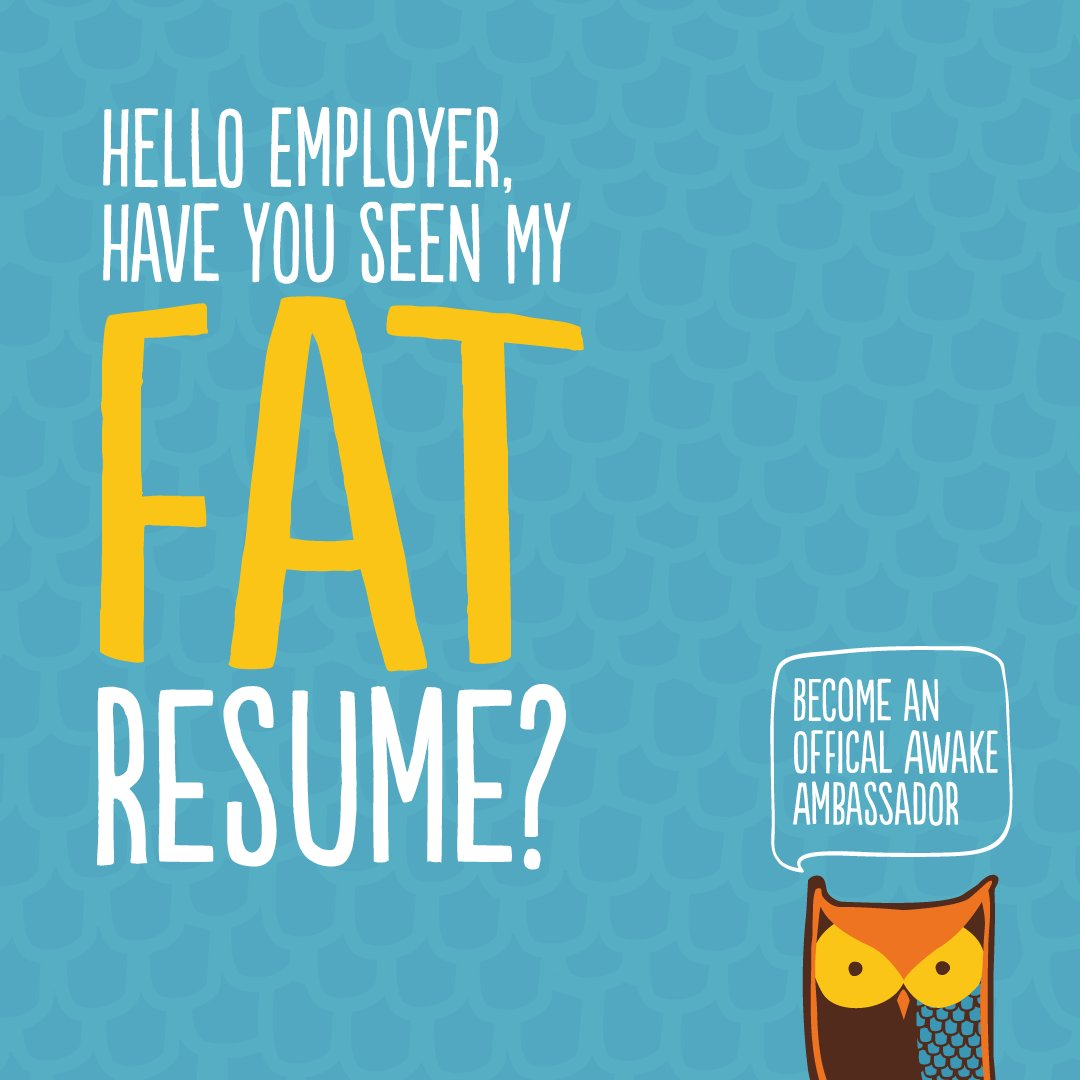 awake chocolate on twitter friends looking to beef up your resume