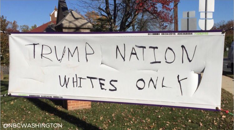 Church Vandalized with Pro-Trump Racist Message in Latino neighborhood in Maryland. #Trump  https://t.co/T5bCPAbQRL https://t.co/pkEW0yMLZa