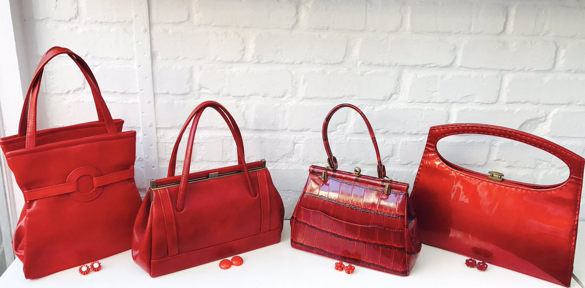 The Vintage Bag Lady On Twitter Red 60 S Handbags Over My Fb Page Jools 60s Mod Sixties