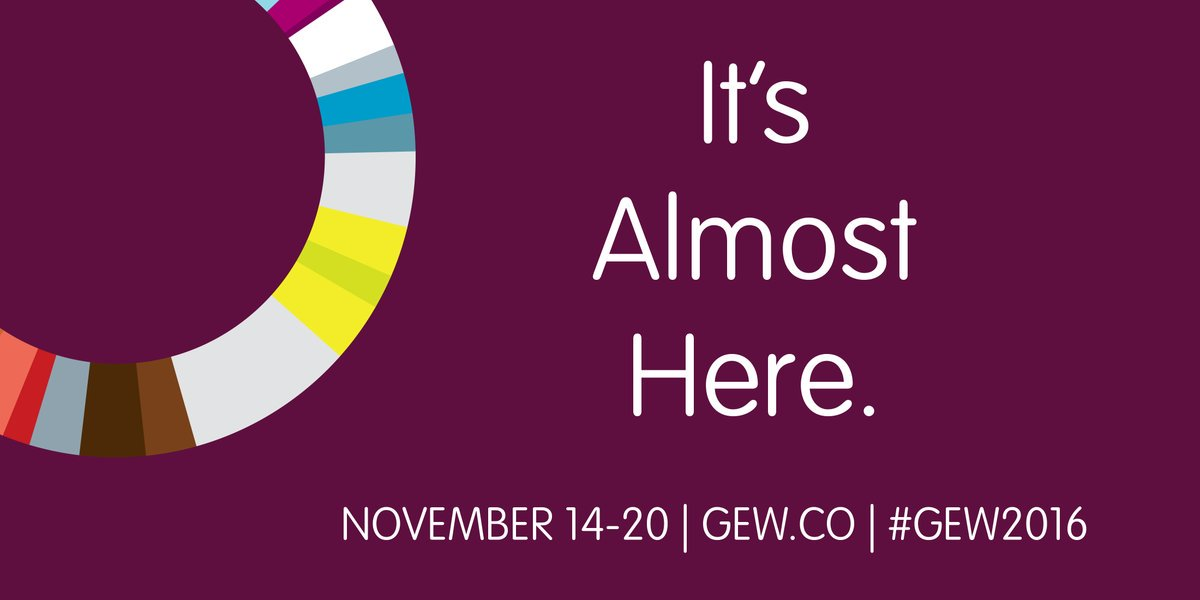It's like Christmas Eve for entrepreneurs. #GEW2016 https://t.co/77WchQc42n