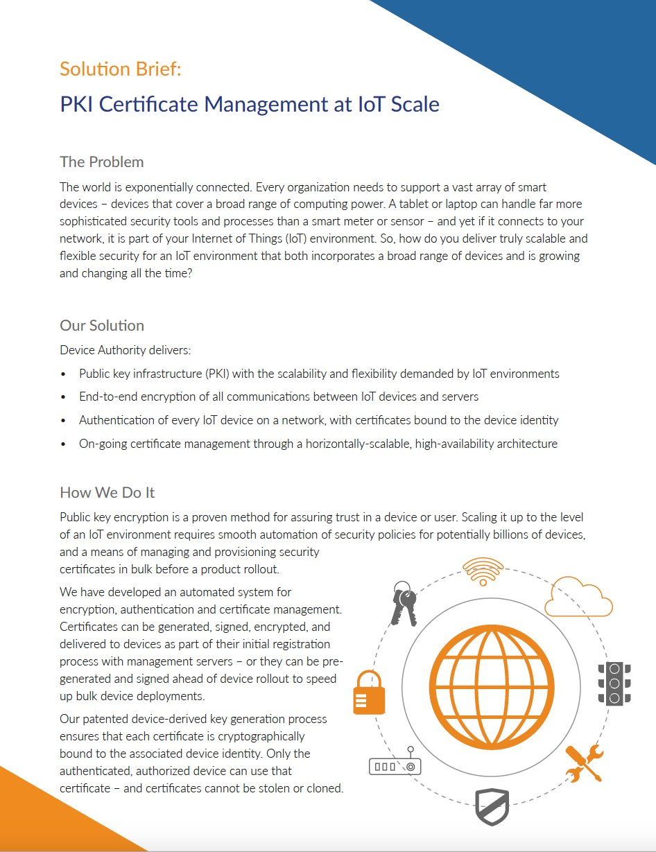 Device authority on twitter download deviceauthoritys pki device authority on twitter download deviceauthoritys pki certificate management at iot scale solution brief httpstviwjh896ur xflitez Gallery