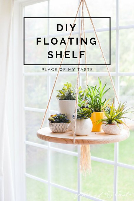 DIY FLOATING SHELF decor diy