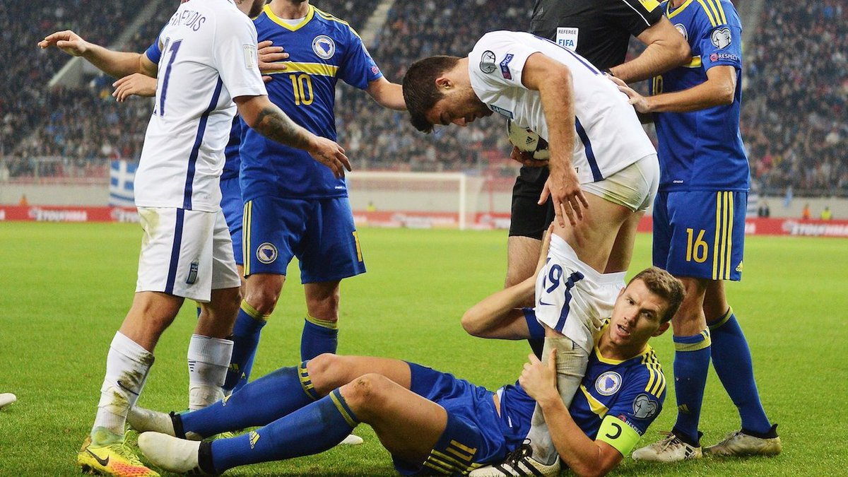 Perchè è stato espulso Dzeko durante Grecia-Bosnia (VIDEO).