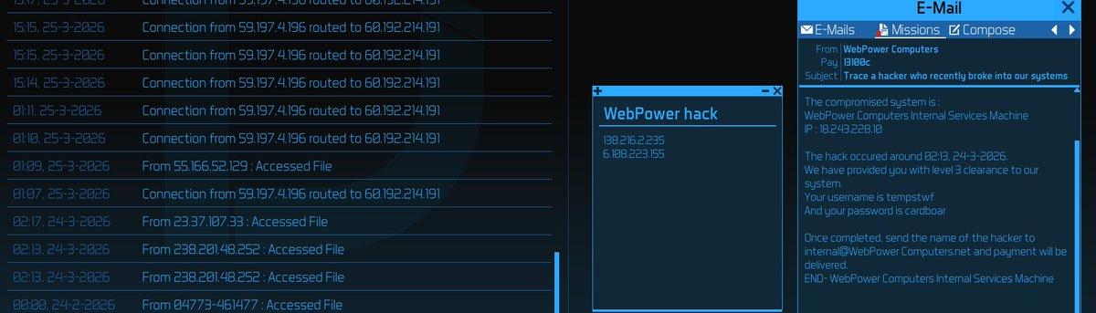 Can't find hacker? Thread - Uplink OS mod for Uplink - Trust is a
