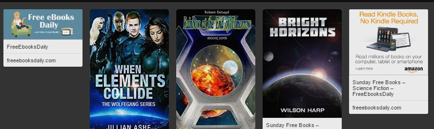 3 FREE BOOKS - Science Fiction https://t.co/c7KWG0PNER #freekindlebooks #scifi https://t.co/X8CDkaF2lQ