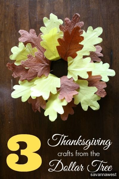 3 Easy Thanksgiving Crafts from the Dollar Tree - ideas tips