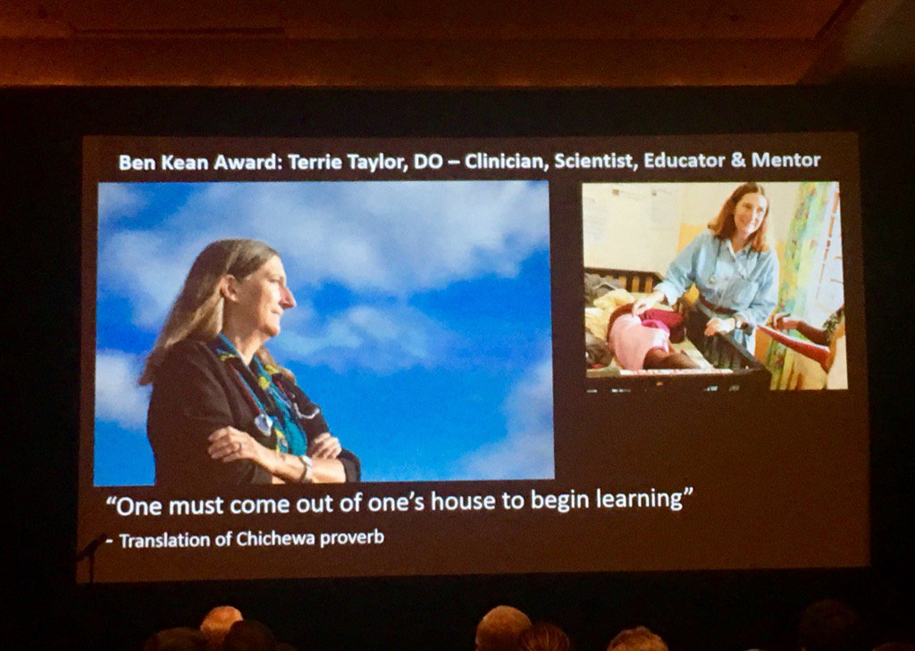 Congrats @michiganstateu's Dr. Terrie Taylor, Ben Keane Medal awardee and leading woman in global health! #TropMed16 https://t.co/oqapzzM0dj