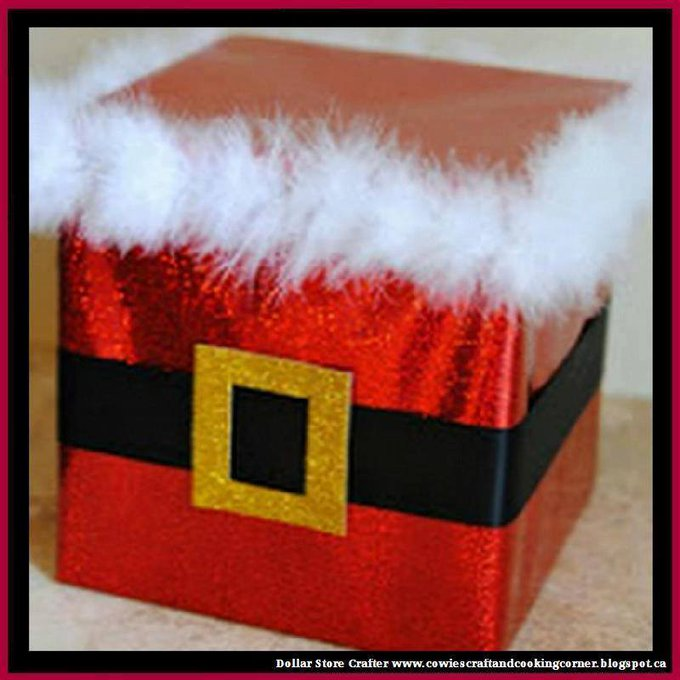 Santa Belly Gift BoxLINK>>christmas crafts christmascrafts