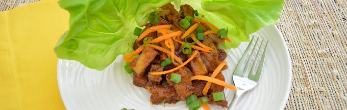 A new twist on the - get our Spicy Peanut Tofu here: