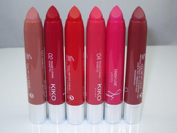 Kiko Finish Line lipstick Review & Swatches. beautys makeup