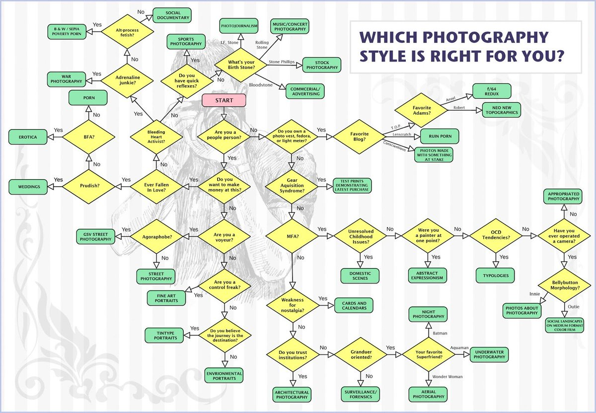 A reader sent me this flow chart - which #photography style is right for you: https://t.co/3FSlr3iVzE