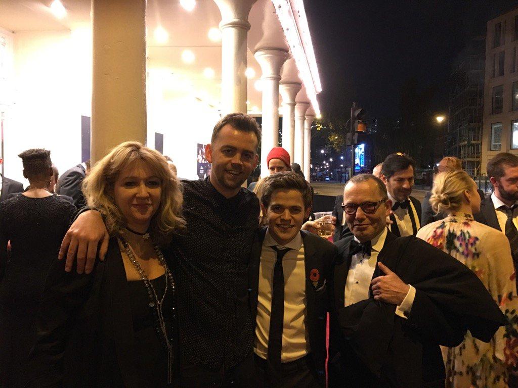 WizardGang:@SFP_London @alexpriceactor @sam_clemmett & #ColinCallender after #ESTheatreAwards  big win 4 @HPPlayLDN