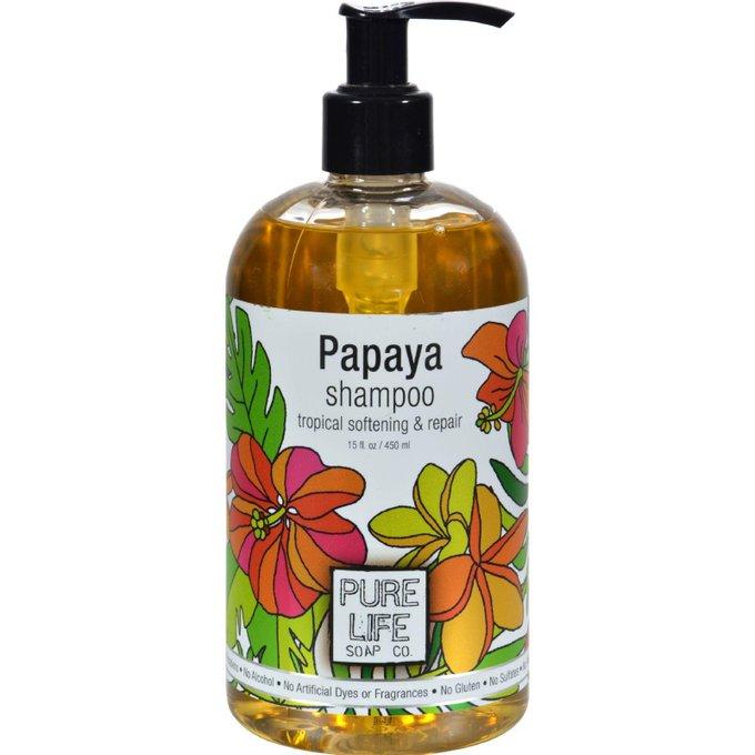 Pure Life Shampoo Papaya - 14.9 Fl Oz EcoOrganicGoods HairCare HairShampoo via outfy