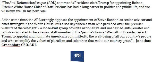 Trump appoints white-nationalist, anti-Semite Steve Bannon as Chief White House Stratigist CxMC8j2WgAE8Pgl