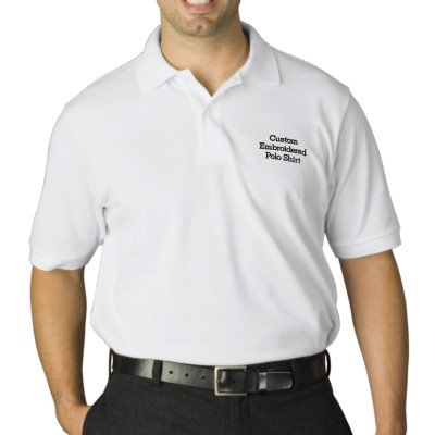 DIY gift Create Mens Custom Embroidered Polo Shirt