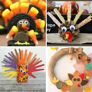 Cute Turkey Ideas - come share your favorites! mondayfundayparty crafts thanksgiving