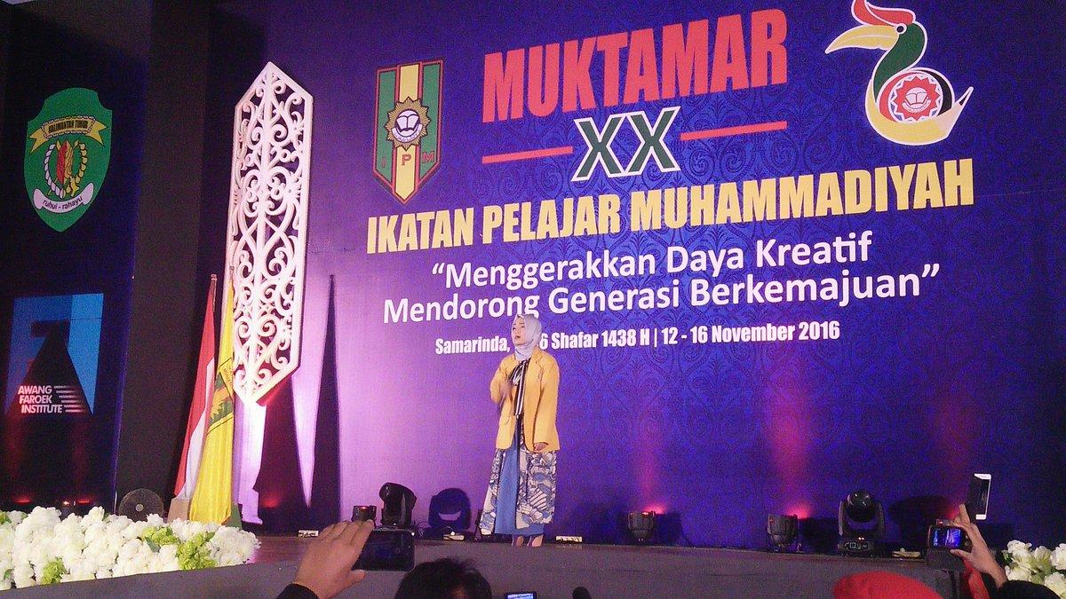 Terima kasih juga kepada @FatinSL yang telah meluangkan waktu hadir dan menghibur kami para peserta #Muktamar20IPM https://t.co/gv1HUnTDy3