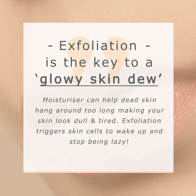 Exfoliate 1-2 times per week to help with radiant skint beauty cosmeticsurgery