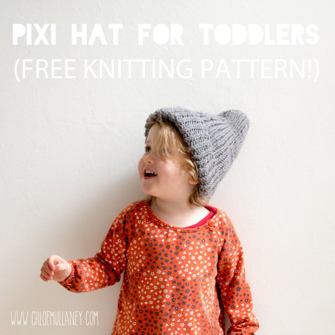New Blog Post: A quick and easy toddler hat - free knitting pattern! knitting crafts