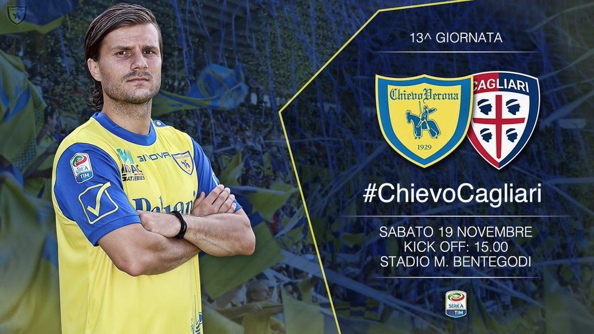 Vedere CHIEVO CAGLIARI Rojadirecta Streaming e Diretta Calcio Gratis TV Oggi 19 Novembre 2016, come dove quando
