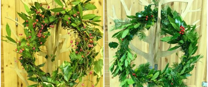 Bringing some of the outdoors in with BBOWT Christmas wreath course wreath crafts