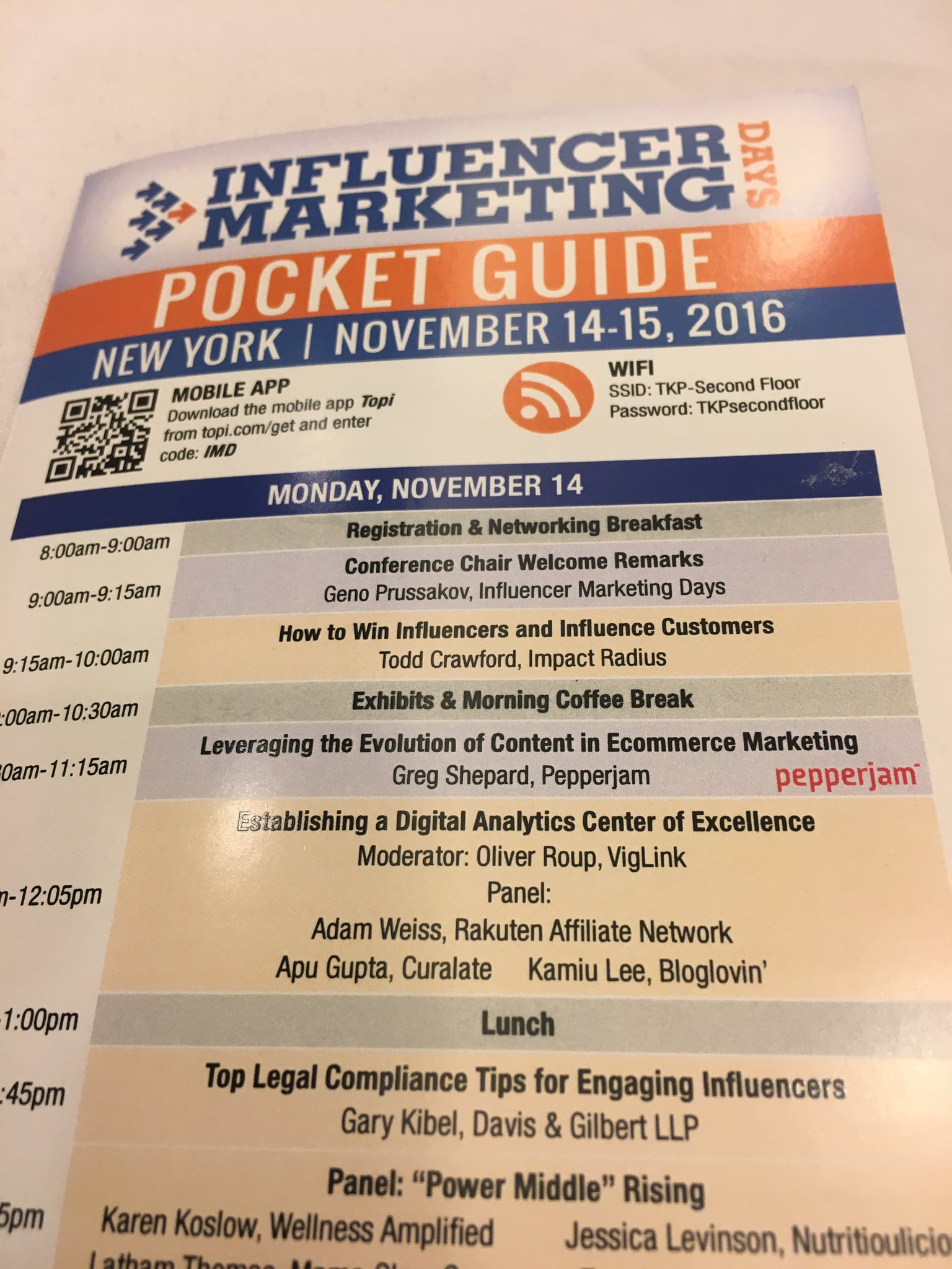 Attending Influencer marketing conference in New York. @CliffCentralCom right on time! CC @GarethCliff #InfluencerDays https://t.co/XPrf0rPxaT